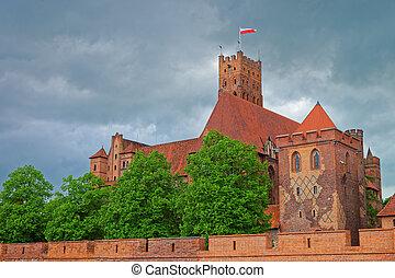 省, malbork, 城堡, 波蘭, pomerania
