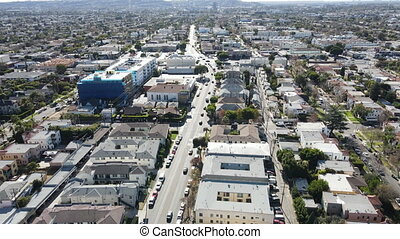 看法, 中央, 洛杉磯, 上面, 空中