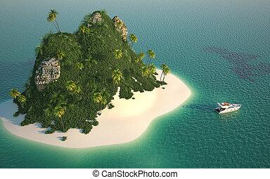 看法, 空中, 天堂島
