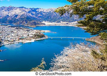 看法, 空中, 湖, kawaguchiko