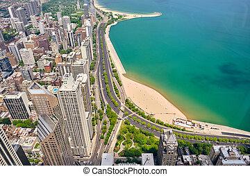 看法, 芝加哥, 空中, 城市