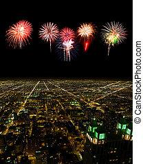 看法, 都市風景, 空中, 芝加哥