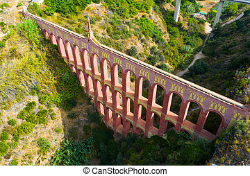 看法, 高架渠, nerja, 鷹, 西班牙, andalusian, municipality, 空中