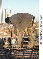 看見, 建造建筑物, 站點, 工人