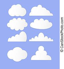 矢量, 云霧, 插圖, 彙整