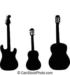 矢量, -, 吉他, 彙整