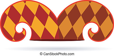 矢量, 帽子, 小丑, 插圖