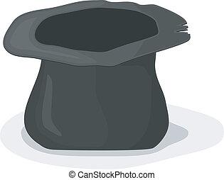 矢量, 帽子, 插圖, 乞丐