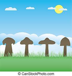 矢量, 彙整, 蘑菇
