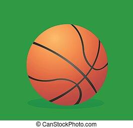 矢量, 插圖, 籃球
