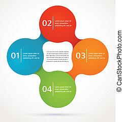 矢量, 摘要, infographics, 背景, 設計, 圖象
