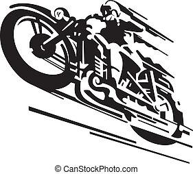 矢量, 摩托車, 背景
