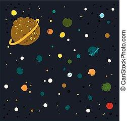 矢量, 星系, 背景, 白色, 插圖