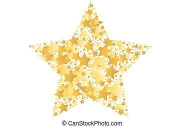 矢量, 星, 金, 插圖