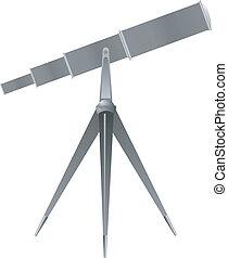 矢量, 望遠鏡, 插圖