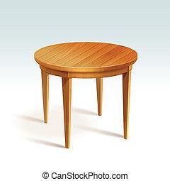 矢量, 桌子, 木頭, 輪, 空