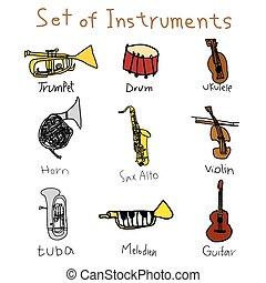 矢量, 樂器