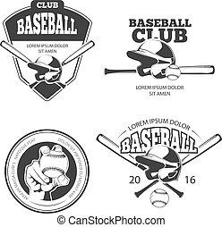 矢量, 標籤, 棒球, 葡萄酒, 理念, 集合, 象征, 徽章