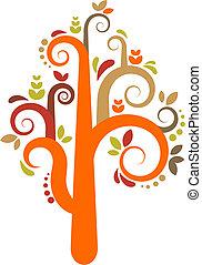 矢量, 樹, 鮮艷