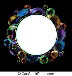 矢量, 氣泡, 鮮艷, 背景