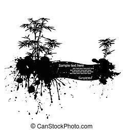 矢量, 現代, grunge, 插圖, 自然