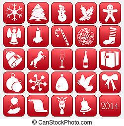 矢量, 聖誕節, 彙整, 圖象
