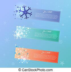 矢量, 聖誕節, 彙整, banners.