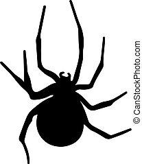 矢量, 蜘蛛, 黑色, 黑色半面畫像
