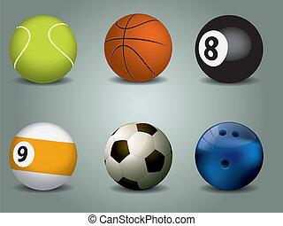 矢量, 運動, 插圖, 球