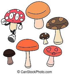 矢量, 集合, 蘑菇