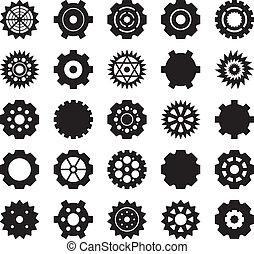 矢量, 集合, 齒輪