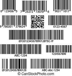 矢量, 集合, barcodes