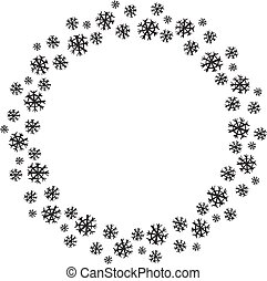 矢量, 雪花, 插圖