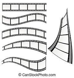 矢量, 電影, 插圖, 剝去
