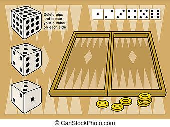矢量, 骰子, 西洋棋