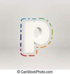 矢量, 鮮艷, 字, 背景, illustartion, fontset, 3d