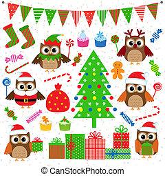 矢量, 黨, 集合, 聖誕節, 元素