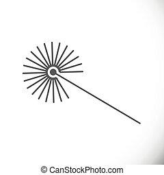 矢量, lazer, icon., 橫樑, 描述技術