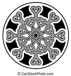 矢量, ornament., 黑色, 插圖