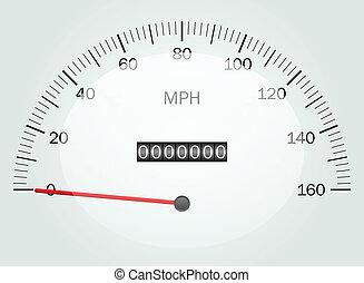 矢量, speedomete, 插圖