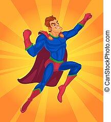 矢量, superhero, 插圖