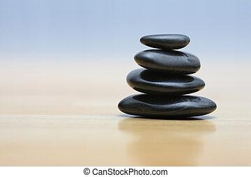 石頭, 木制, 禪, 表面