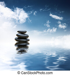 石頭, 水, 在上方, 禪