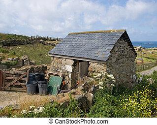 石頭, 老, 被建造, 小室, 确定, 鄉村