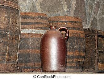 确定, 桶, 酒, 鄉村