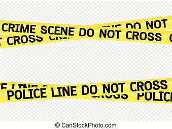 磁帶, 犯罪現場, 插圖, 危險
