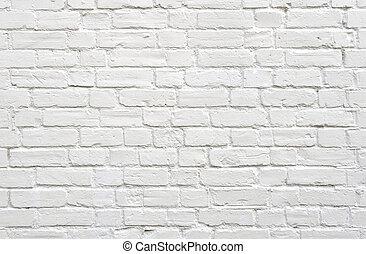 磚, 白色的牆