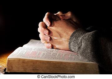 祈求手, 在上方, 聖經