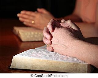 祈禱, 婦女, 人, 圣經