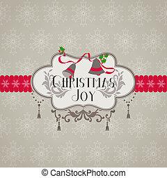 祝賀, -, 邀請, 矢量, retro, 圣誕節卡片
